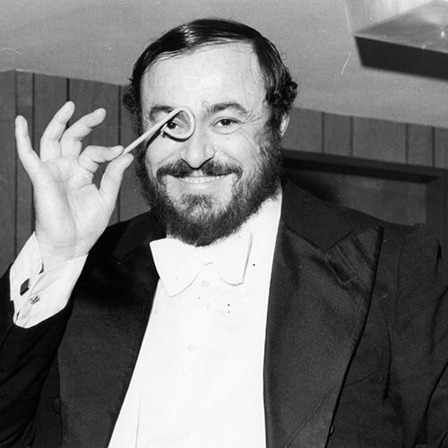 La barba di Luciano Pavarotti