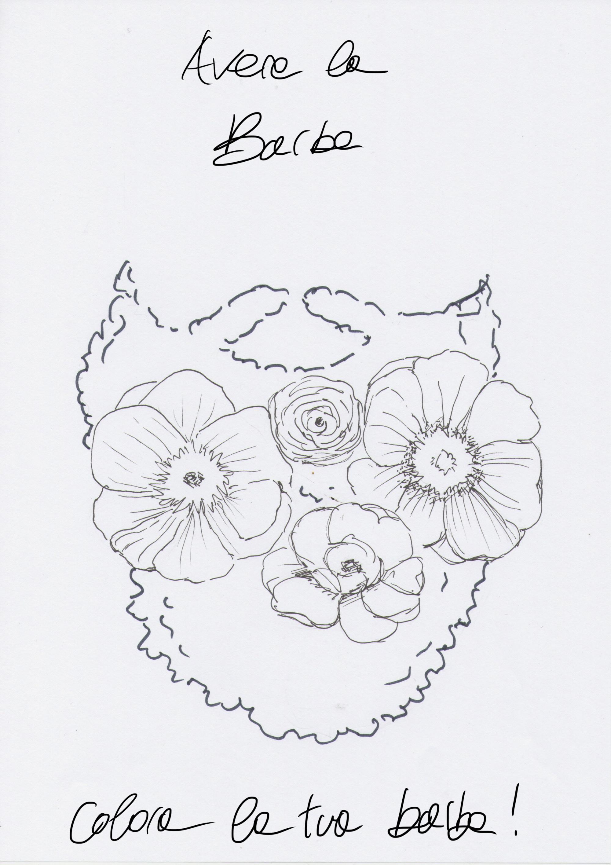 barba da disegnare donna