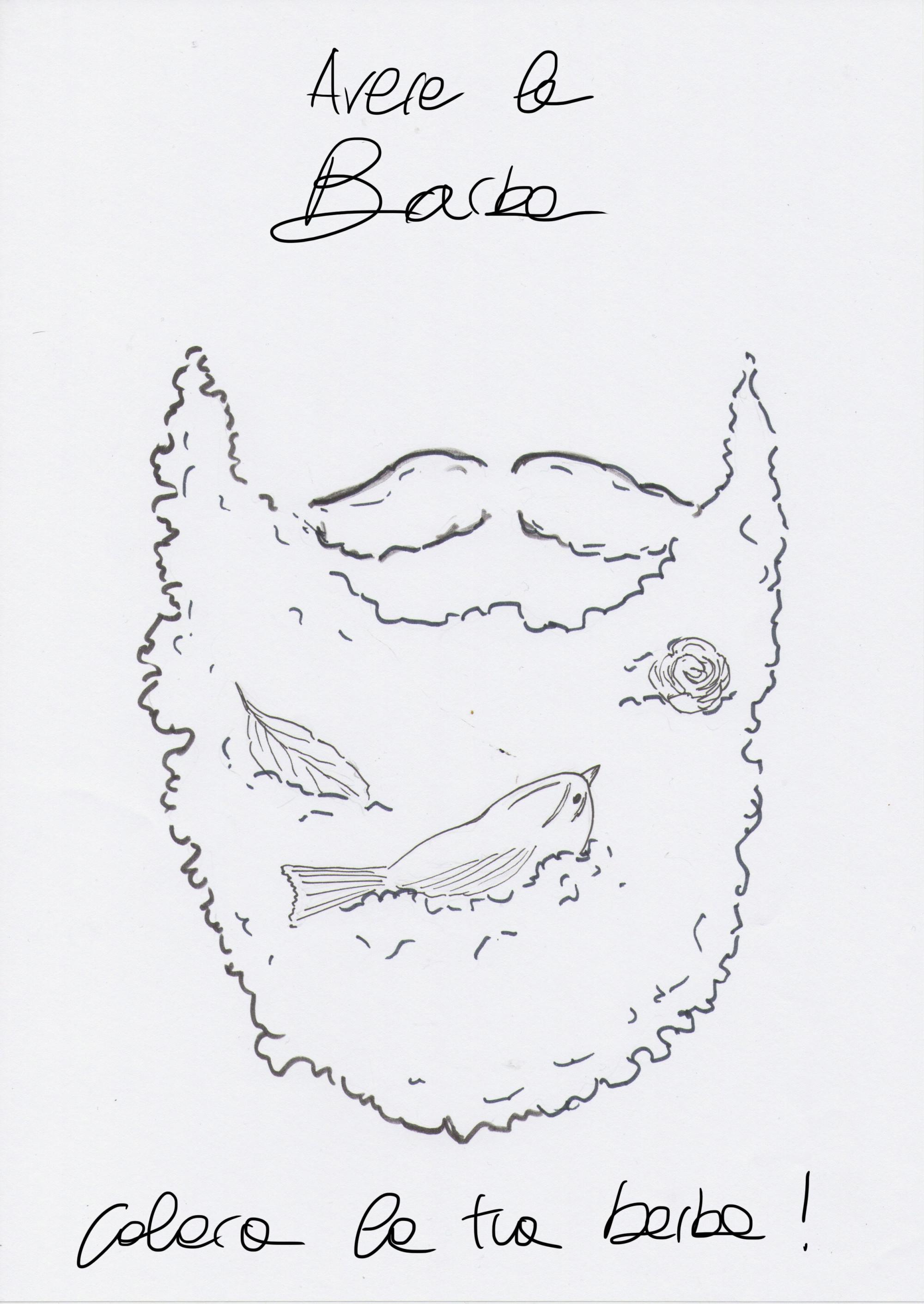 barba da disegnare uomo